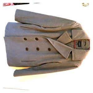 Lands End Mens Wool Pea Coat